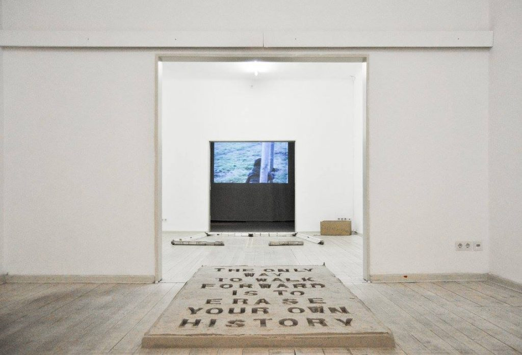 Video Installation and artworks at an exhibition in GlogauAIR Berlin