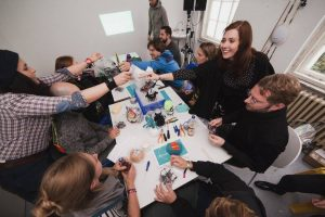 workshop with resident artists at GlogauAIR in Berlin, one of the activities for career and creation