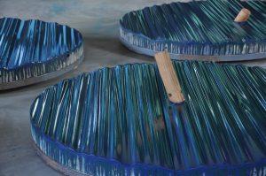 Paulownia paint. iron. , 120 cm diameter