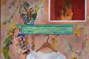 Acrylic on Canvas 100.70cm, 2015, by Anahita Ghazanfari