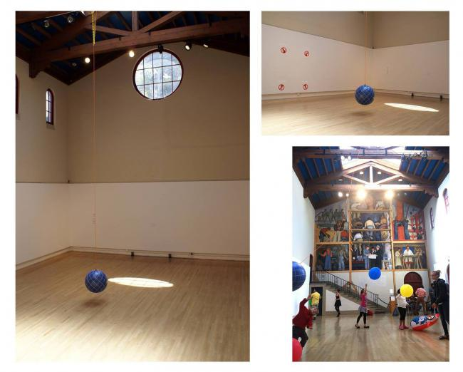 Game (Wrecking Ball), Site-specific game/Installation, 2014 by Carlos Franco