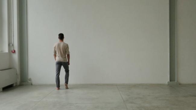 Live Performance Linear PROJECT: THE ORDER / Live Performance: Linear, Single Channel Video (Color, Sound), 9'16'', Duration of the Performance is Determined by the Physical Condition of the Performer, 2014 by Chen Wei