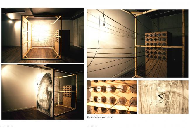 LOST IN THIS MOMENT Installation work, abandoned furnitures and fixtures, building materials taken from the demolished village 400 x 340 x 300 cm; 2013