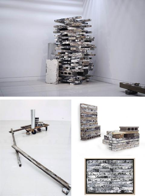 The Box Wood, String, Bolts; 45 x 30cm, 18cm; 201