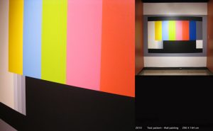 Test Pattern Acrylic painting. Variable dimensions, 2010 by Jerome Havre
