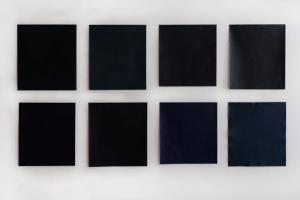 "M.E, Sparks, Night as Sheet (No.1-8) 2017, oil on canvas, each approximately 20""x20"""