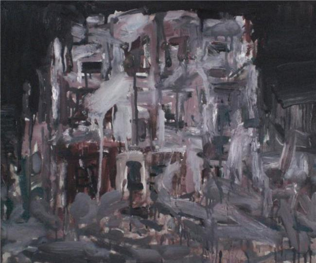 Ruin Build, oil on canvas by Guangchun Gao