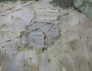 Blind spot 180 x 230 cm, acrylic on canvas, 2014