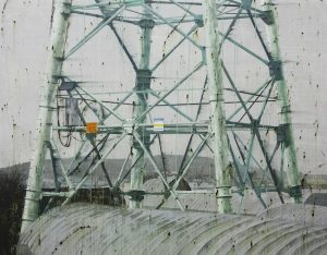 Power tower 180 x 230 cm, acrylic on canvas, 2014