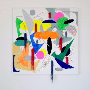 Isu Kim Berlin Kreuzberg Collage Contemporary Art Installation Colour