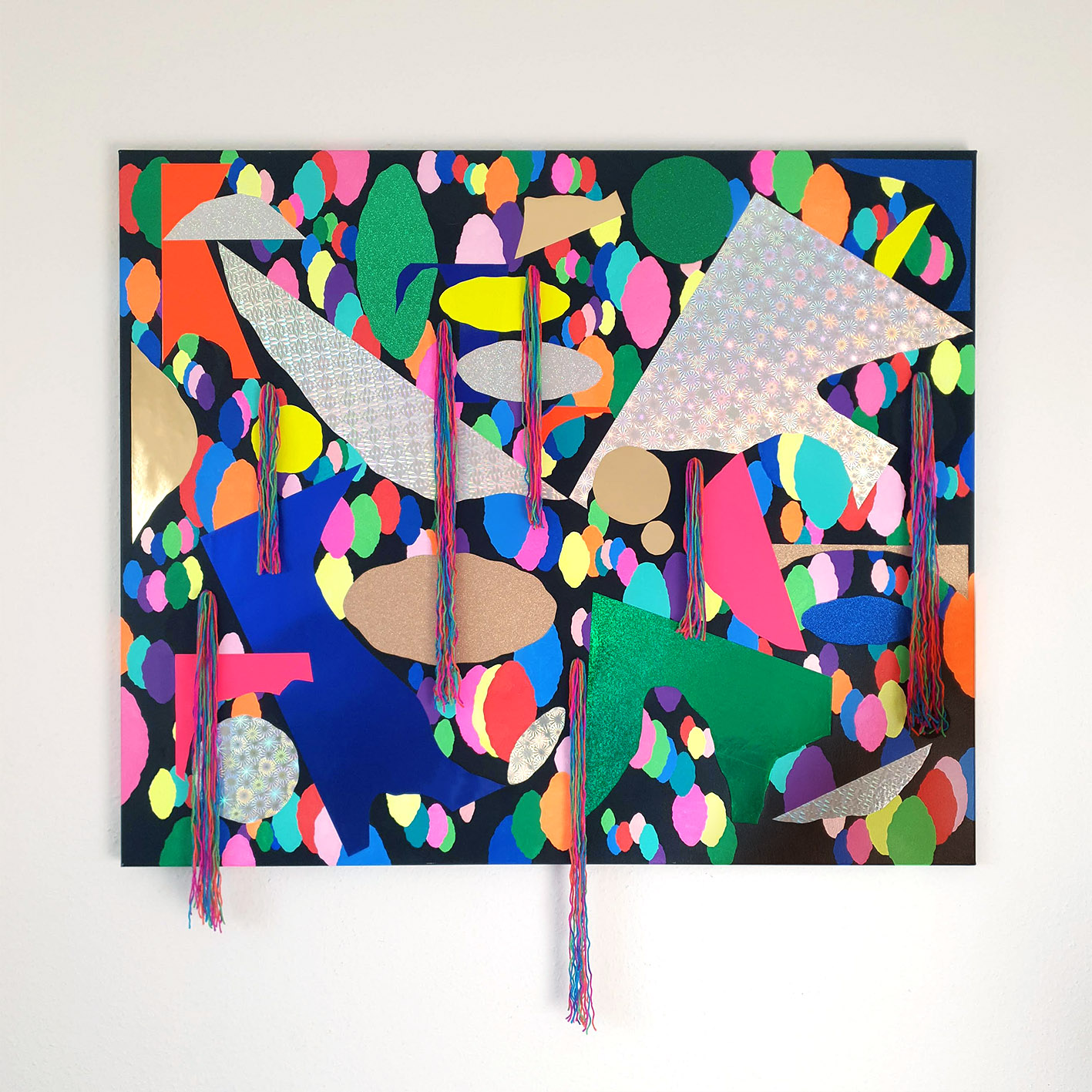Isu Kim Berlin Kreuzberg Contemporary Art Installation Thread Painting Collage
