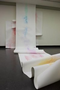 Installation shot of Configuration of: Ten and Ode to Two Coloured pencil and ink on paper, Dimensions variable, 2015.