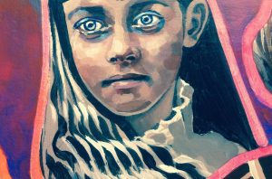 Artist in Resident at GlogauAIR Kreuzberg Molly Must Civil War Mural