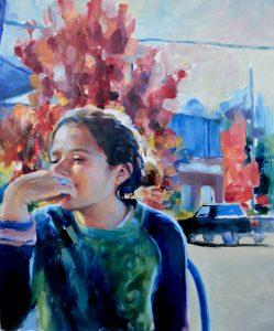 Artist in Resident Molly Must GlogauAIR Kreuzberg Painting
