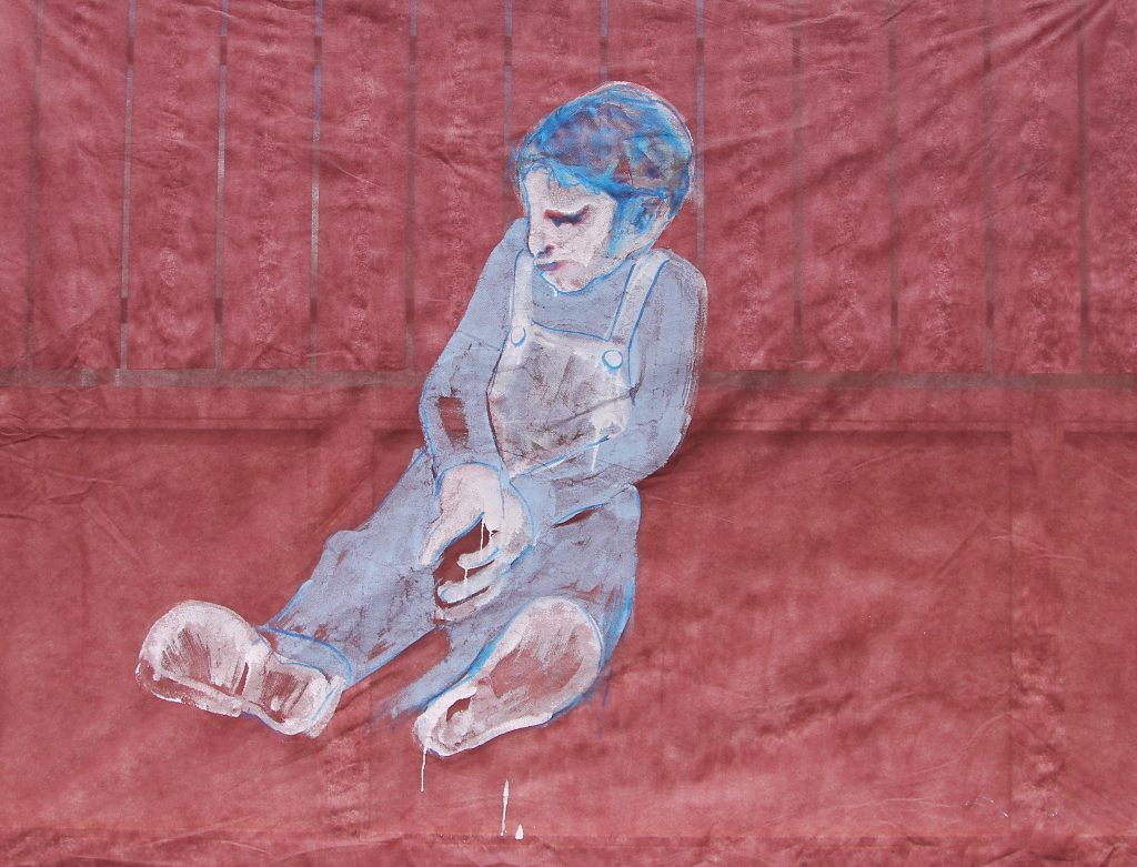 u201cBig-boyu201d-145u00d7100-cm.-acrylic-on-disposable-tablecloth-2011