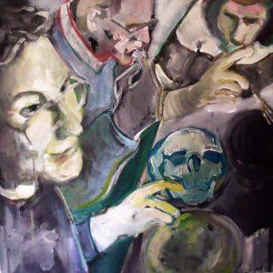 u201cFamily-dinneru201d-50u00d750-cm-acrylic-on-canvas-2012