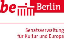 Logo Berliner Senatsverwaltung für Kultur und Europa partner glogauair support grants local Berin