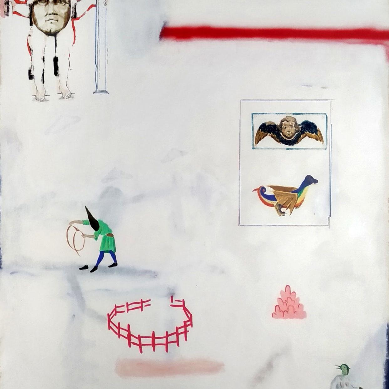 Daniel-Dobarco-El-mapa-del-beato-Oil-spray-and-marker-on-canvas-162-x-130-cm-2019