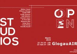 Flyer Design by Julia Donate for GlogauAIR's open studios event taking place in March 2019