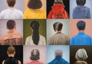 Portraits Oil on linen each 54x45.5cm, 2013-2014 by Hyoyoun Lee