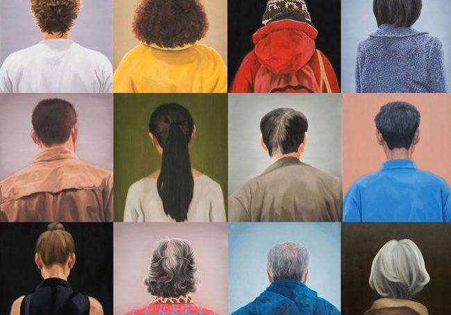 Portraits Oil on linen each 54x45.5cm, 2013-2014 by Hyoyoun Lee