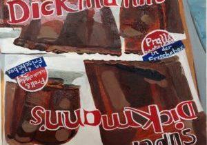 work by former resident artist at glogauair Uzma Sultan, Dickmann's chocolate